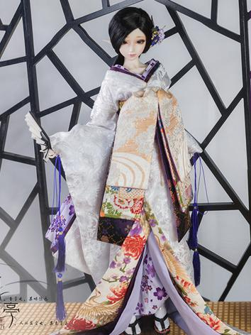 BJD Clothes Boy/Girl Kimono [Canglan] for 75cm/70cm/SD/MSD Ball-jointed Doll