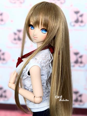 BJD Girl Wig Flaxen Hair CW...