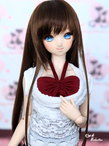 BJD Girl Wig Dark Brown Hai...