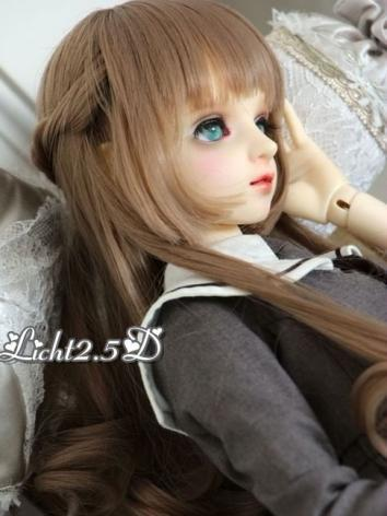 1/3 1/4 1/6 Wig Girl Brown Hair[NO.69] for SD/MSD/YSD Size Ball-jointed Doll