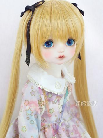 BJD Girl Gold Hair 1/3 1/4 1/6 Wig for SD/MSD/YSD Size Ball-jointed Doll