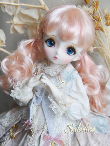 1/4 1/6 1/8 Wig Girl Brown/Light Gold/Pink Sweet Hair for MSD/YOSD/BB Size Ball-jointed Doll