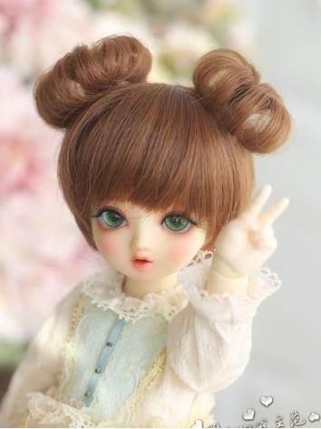 1/8 1/6 Wig Girl Pink/Brown Hair for YOSD/BB Size Ball-jointed Doll
