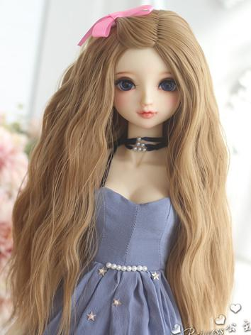 1/3 Wig Girl Light Brown Hair for SD Size Ball-jointed Doll