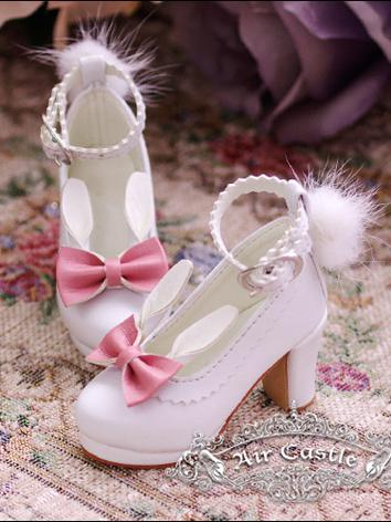 Bjd Girl White/Pink High heels shoes for SD Ball-jointed Doll