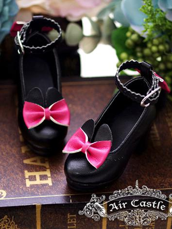 Bjd Girl Black High heels s...