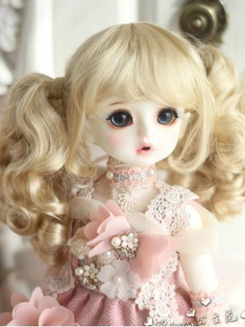 1/3 1/4 1/6 Wig Girl Gold H...