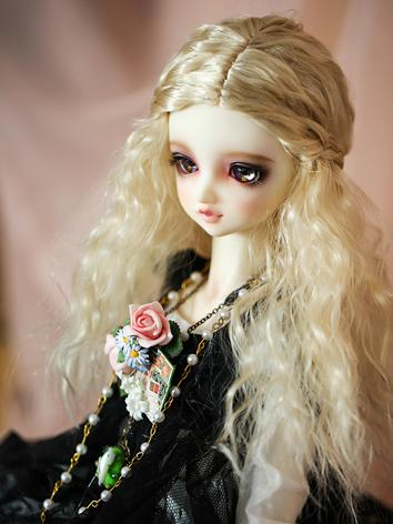 BJD Wig Light Gold/Wine Cur...
