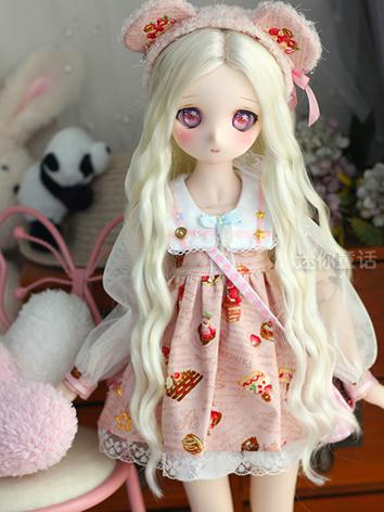 BJD Wig Girl Light Yellow C...