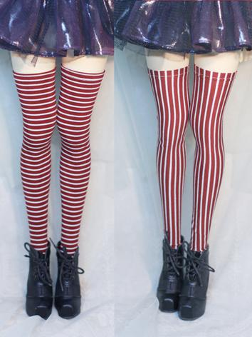Bjd Socks Girls Stripe High...