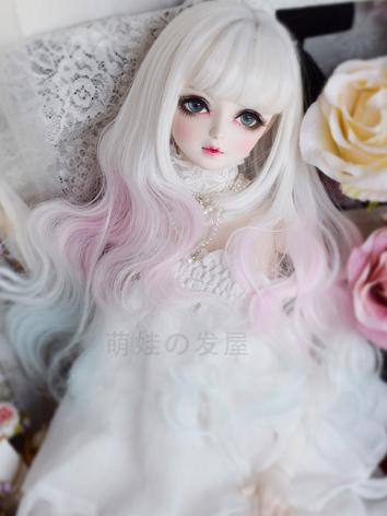1/3 1/4 Wig Girl White&Pink...