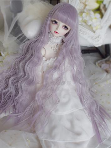 1/3 1/4 Wig Girl Grayish Purple Long Curly Hair for SD/MSD Size Ball-jointed Doll