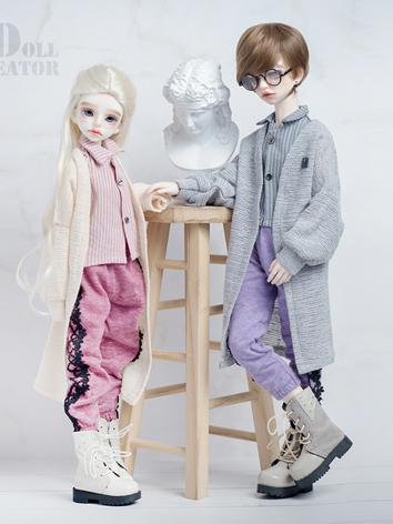 BJD Boy/Girl Clothes 1/4 size Pink/Purple Suit for MSD Ball-jointed Doll