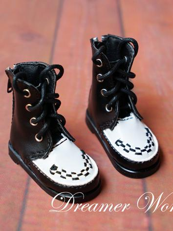 1/4 Shoes Female/Male Black Boots  for MSD Ball-jointed Doll