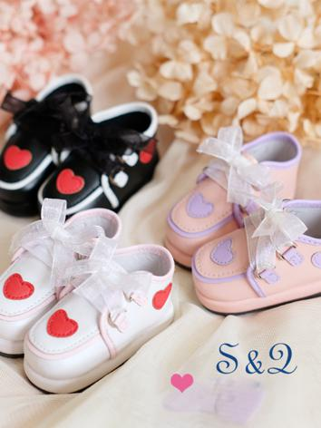 1/4 1/6 Girl/Boy White/Black/Pink Platform Shoes for MSD/YSD Ball-jointed Doll