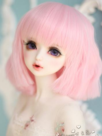 1/3 Wig Girl Pink/Brown Hair for SD Size Ball-jointed Doll