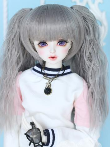1/3 1/4 Wig Girl Gray Hair for SD/MSD Size Ball-jointed Doll