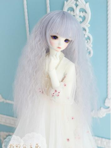 1/3 1/4 Wig Girl Pinky Purple Curly Hair for SD/MSD Size Ball-jointed Doll