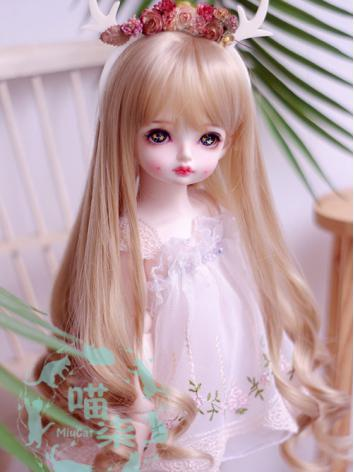 BJD Wig Girl Flaxen Curly H...