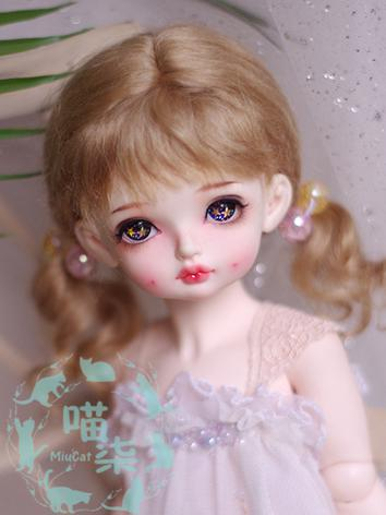 BJD Wig Girl Brown/Orange Hair for SD/MSD/YSD 1/8 Size Ball-jointed Doll