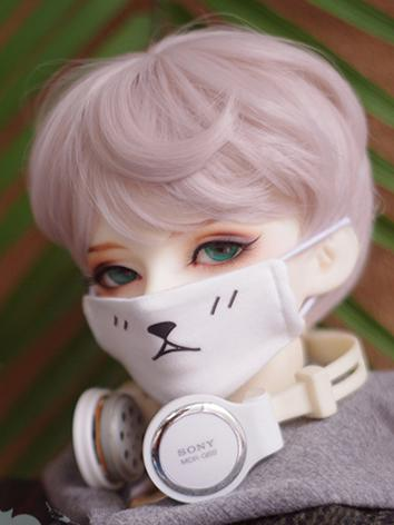BJD Boy/Girl White Face Mas...