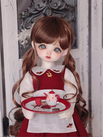 BJD Wig Girl Brown Hair 1/3...