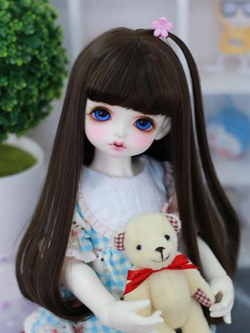 BJD Wig Girl Chocolate/Brow...