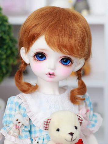 BJD Wig Girl Orange Hair Wi...