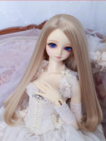 BJD Wig Girl Flaxen Hair 1/...