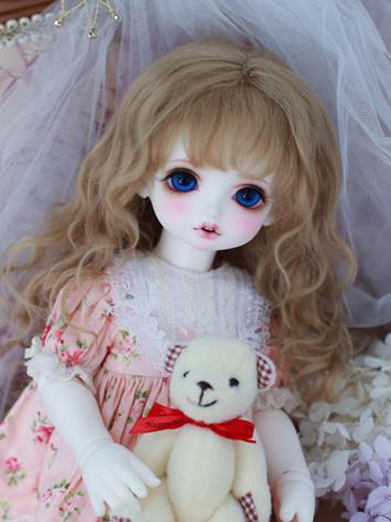 BJD Wig Girl Light Gold/Bro...