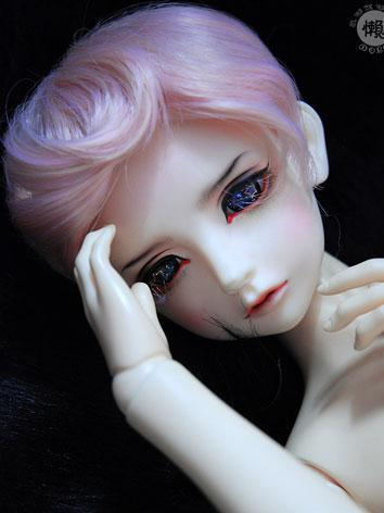 BJD Wig Boy Pink Short Hair...