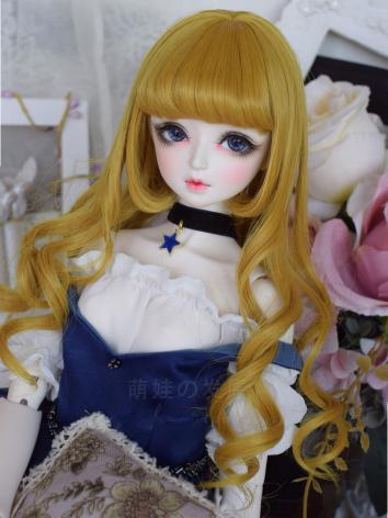 BJD Wig Girl Coffee/Black/W...