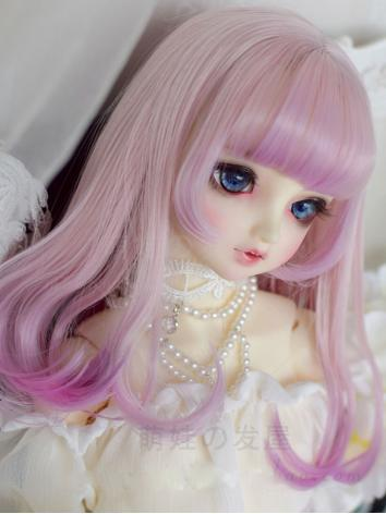 BJD Wig Girl Pink Hair for SD/MSD Size Ball-jointed Doll