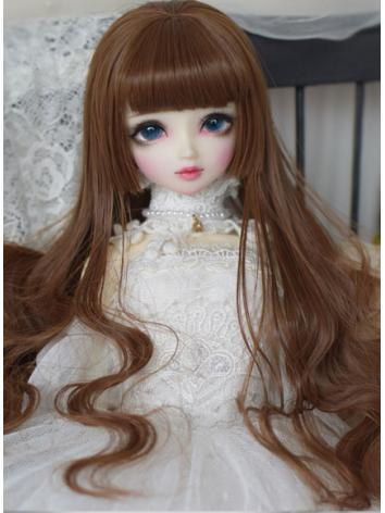 BJD Wig Girl Coffee/Black/White/Black/Pink/Purple Long Curly Hair for SD/MSD/YOSD Size Ball-jointed Doll