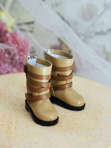 Bjd Girl/Boy Green/Beige/Brown/Yellow/Black Short Boots 1/6Shoes for YSD Ball-jointed Doll