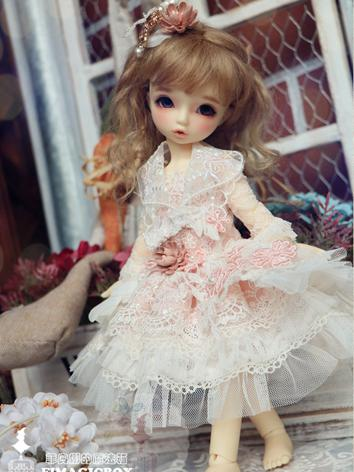 BJD Clothes Girl Pink Lace ...