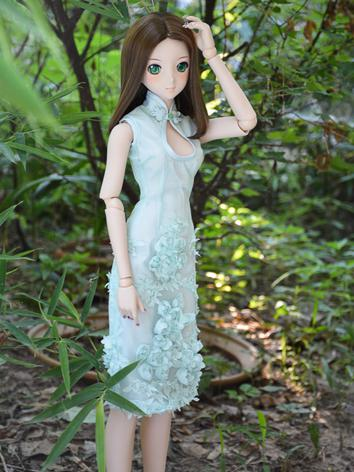 Custom-sized Clothes Girl Lace Cheongsam Long Dress for MDD/MSD/SD/DD/65CM Ball-jointed Doll