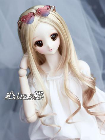1/3 1/4 Wig Girl Golden Curly Hair[NO.98] for SD/MSD Size Ball-jointed Doll