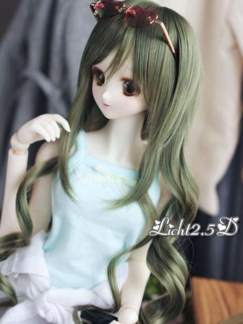1/3 Wig Girl Green Curly Ha...