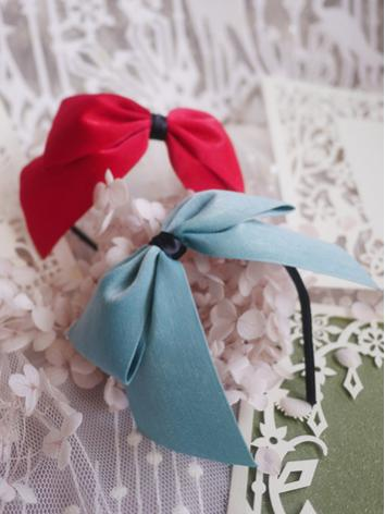 BJD Hair Decoration Pink/Blue Bow Hairband Stick for SD Ball-jointed doll