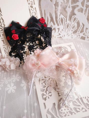BJD Hair Decoration Hairpin Black/Pink Hairband Stick for SD/MSD/YOSD Ball-jointed doll