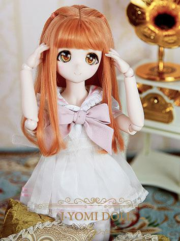 BJD Girl Orange Hair wig fo...