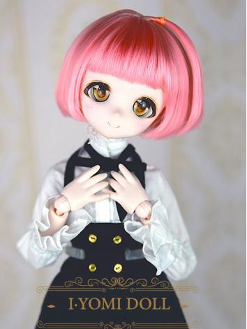BJD Girl Pink BoBo Hair wig for SD Size Ball-jointed Doll