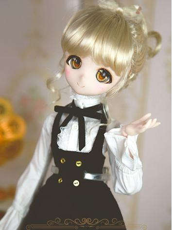 BJD Girl Light Gold Hair wig for SD/MSD/YSD Size Ball-jointed Doll