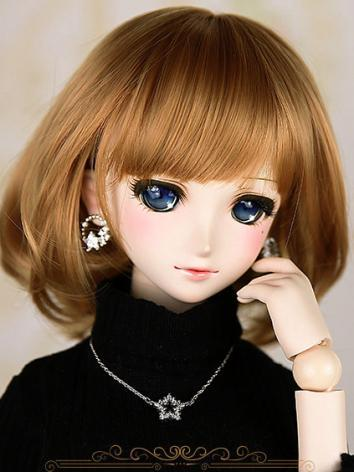 BJD Girl Brown Short Hair w...