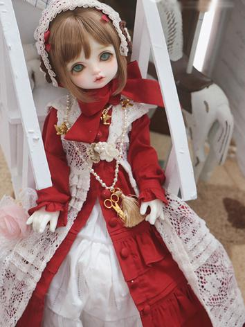 BJD Clothes Girl Red Dress ...