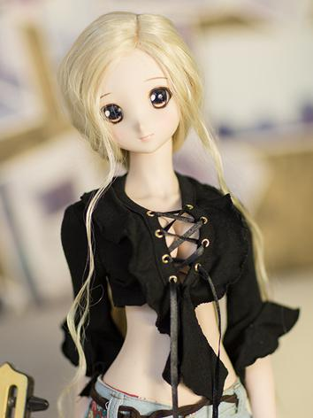 BJD Clothes Girl White/Black Sexy Top for SD/MSD Ball-jointed Doll