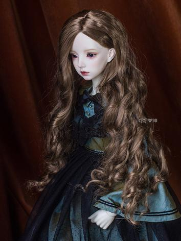 BJD Wig Dark Brown Long Curly Hair Wig for SD Size Ball-jointed Doll