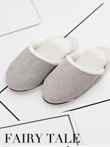 1/4 1/6 Shoes Gray/White/Pink Slippers Shoes for MSD/YOSD Ball-jointed Doll