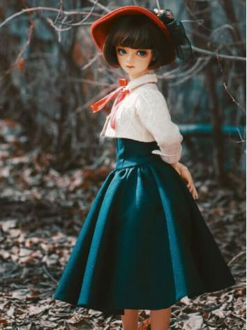 1/3 Clothes BJD Girl Dark Blue Dress Suit for SD Ball-jointed Doll